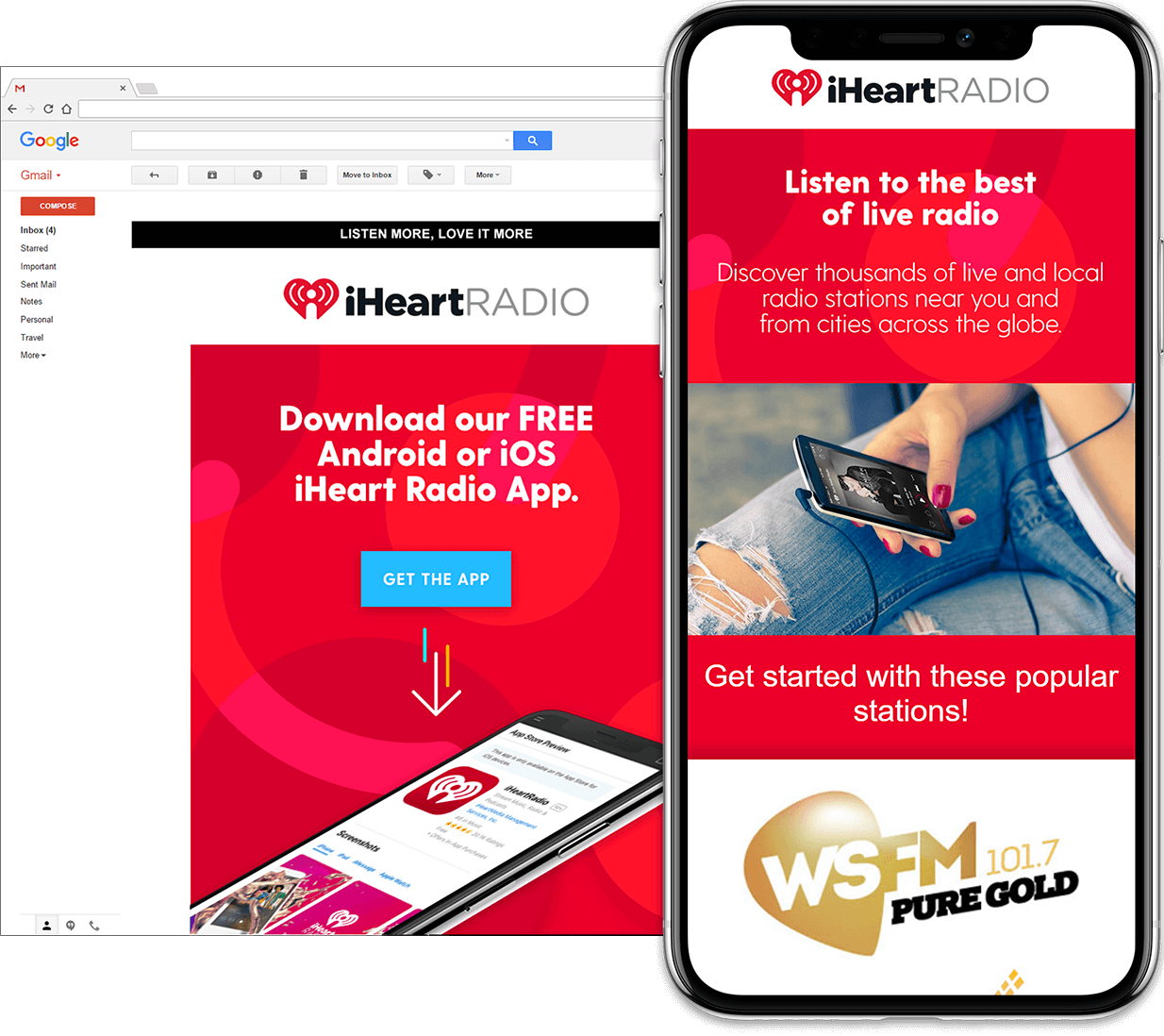 Email Design for iHeart Radio